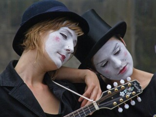 Mime artist at the Edinburgh Fringe