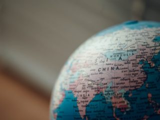 Globe terrestre représentant la Chine