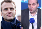 Photo montage avec Emmanuel Macron et Laurent Berger