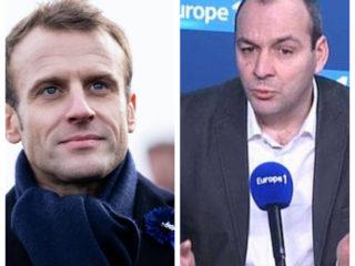 Photo montage avec Emmanuel Macron et Laurent Berger