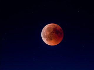 La Lune vue depuis Sidelhom en Suisse