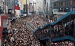Des manifestants dans les rues d'Hong Kong