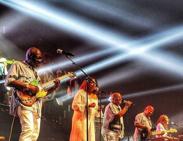 Le groupe Kassav' lors d'un concert au Zénith en 2013