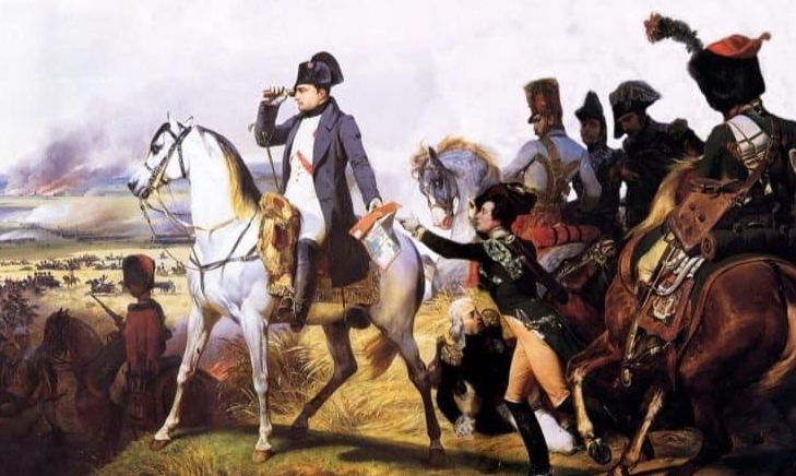 Napoléon Bonaparte, conduisant ses troupes lors d'une bataille