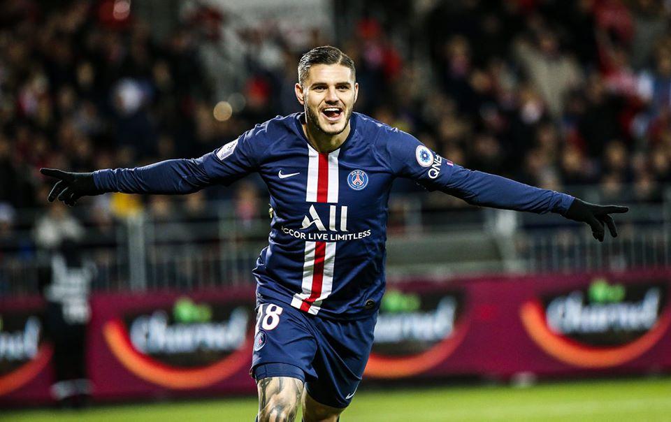 Mauro Icardi et le PSG qualifiés pour les huitièmes de finale de la Ligue des Champions 2019